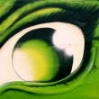 Eye graffiti — Stock Photo