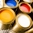 Multi-colored paint — Stockfoto