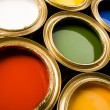 Stock Photo: Multi-colored paint