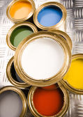 Multi-colored paint — Stock Photo