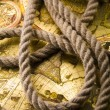 Old map & Rope — Stock Photo
