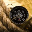 Compass with rope — Stock Photo
