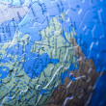 Puzzle globe — Stock Photo