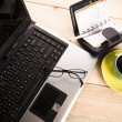 Stock Photo: Notebook & Business objects