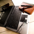 Laptop & Ballpoint & Glasses — Stock Photo #30777905