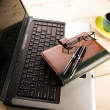 Notebook & Business objects — Stock Photo