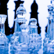 Glass chess — Stock fotografie
