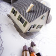 House blueprints close up — Stock Photo