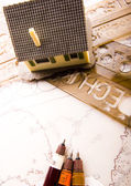 Plano de la casa — Foto de Stock