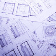 House plan blueprints — Foto Stock