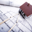 Stock Photo: Home plan