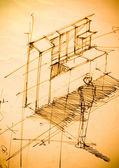 Plans de maison plan — Photo