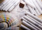 Blueprints — Stock Photo