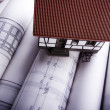 Close up of a blueprint & House — Stock Photo #30801505