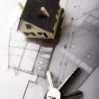 House blueprints close up — Stock Photo #30802785