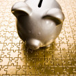 Silver piggy bank — Stock Photo