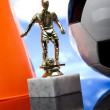 Stock Photo: Figurine & Soccer ball