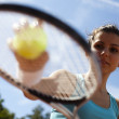 Girl Playing Tennis — Stock Photo #31575543