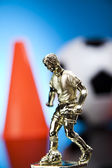 Figurine & Soccer ball — Foto de Stock