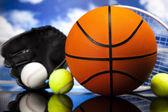 Attrezzature sportive assortiti — Foto Stock