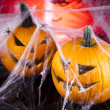 Scary Jack, halloween pumpkin and spider — Stock Photo #32562119