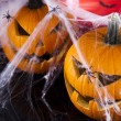 Scary Jack, halloween pumpkin and spider — Stock Photo #32563287