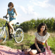 Girlfriends on picnic — Stock Photo #32563969