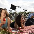 Girlfriends on picnic — Stock Photo #32564469