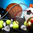 Stock Photo: Sport equipment and balls