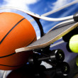 Sports balls, a lot of balls and stuff — Foto Stock