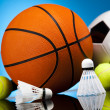 Sports balls, a lot of balls and stuff — Stock Photo