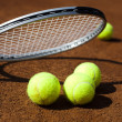 Sport, Tennis racket and balls — Stockfoto