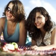 Girlfriends on picnic — Stock Photo #32567571