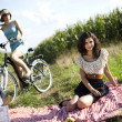 Girlfriends on picnic — Stock Photo #32567849