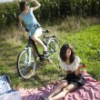 Girlfriends on picnic — Stock Photo #32568585