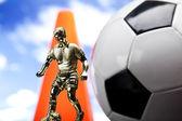 Detalle de la pelota de fútbol — Foto de Stock