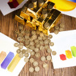 Pyramid, Gold Bars — Stock Photo