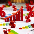 Business diagram, growth, chart, arrow — Stock Photo