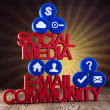 Internet concept with social media — Stock Photo #34176233