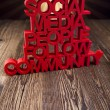 Internet concept with social media — Foto Stock