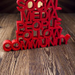 Internet concept with social media — Stockfoto