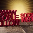 Internet concept with social media — Foto de Stock