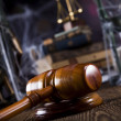 Scales of justice, gavel and books — Stock Photo #34178753