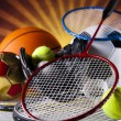 Sport equipment and balls — Stock Photo #34179681