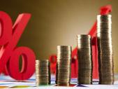 Peníze, mince pozadí — Stock fotografie