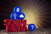 Концепция социальных средств массовой информации сети связи — Стоковое фото