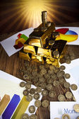 Barras de ouro — Fotografia Stock