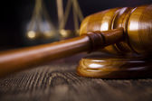 Judges wooden gavel, law — Stock Photo