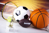 Sport, a lot of balls and stuff — Stock Photo