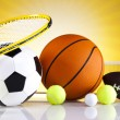 Sport equipment and balls — Stockfoto #34180353